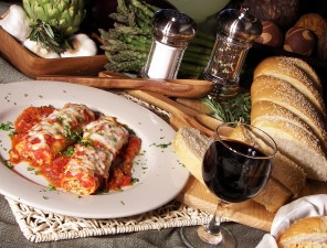 bigstock_Manicotti_Dinner_With_Wine_2233978
